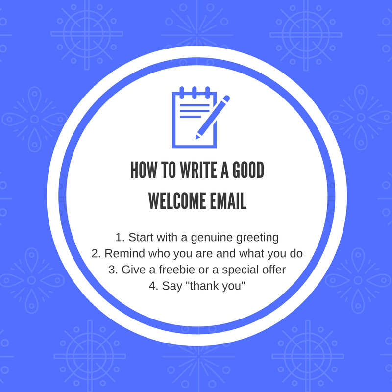 How to write a good welcome email