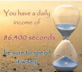 You Have A Daily Income Of 86400 SEC  – How do you intend spending it?