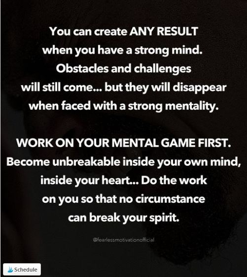 You can create any mindset - Your mind is the key to success